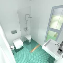 Viv. container: Baños de estilo  por CAB Arquitectura ccab.arquitectura@gmail.com