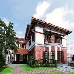 Villa de style  par Công ty TNHH Thiết Kế và Ứng Dụng QBEST