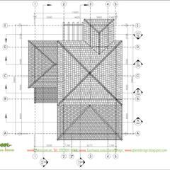 Mặt bằng mái:  Biệt thự by Công ty TNHH Thiết Kế và Ứng Dụng QBEST