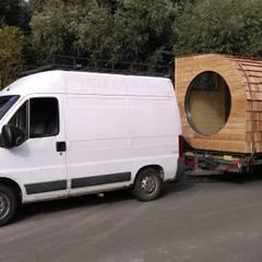 Le Nid, un habitat modulaire nomade: Bureaux de style  par Alter Ec'Home&