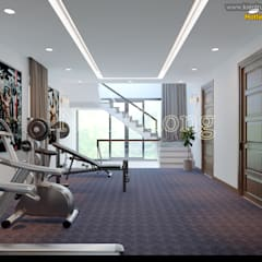 NamCuong design company:  Phòng tập by Công ty Cổ phần tư vấn thiết kế xây dựng Nam Cường