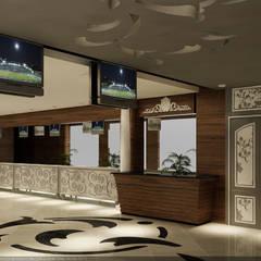 MOGAN GROUP Mimarlık Dekorasyon İnşaat LTD. ŞTİ. – Erbil Hipodrom Projesi:  tarz Koridor ve Hol