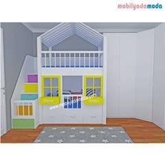 MOBİLYADA MODA  – Demir Ve Arden'in Odası, Özel Tasarım Ranzalı Çocuk Odası :  tarz Çocuk Odası