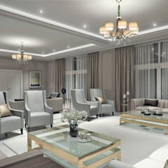 Luxury Modern Home:  Living room by Mary Lakzy