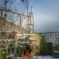 BYAZ İnşaat Mimarlık ve Tasarım – dış mekan-cephe : tropikal tarz tarz Bahçe