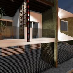 Garasi oleh Romarq. Diseño y construcción, Kolonial Aluminium/Seng