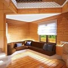 ALTERNATIVAS DIFERENTES PARA EL HOGAR : Salas de estilo  por DISEÑOSLA