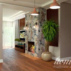 Kolonialny vintage: styl , w kategorii Salon zaprojektowany przez Home Atelier