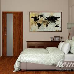 Kolonialny vintage: styl , w kategorii Sypialnia zaprojektowany przez Home Atelier