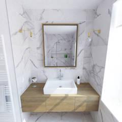 Création d'un appartement dans un ancien couvent - SdB: Salle de bains de style  par La Fable