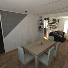 Aménagement d'une maison: Couloir et hall d'entrée de style  par La Fable