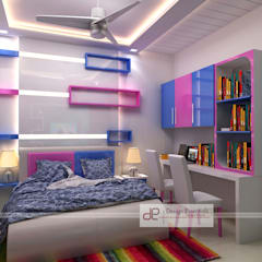 Residence at Rohini, New Delhi:  Nursery/kid's room by Design Essentials
