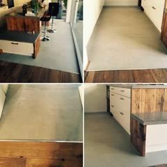 Beton Bodenbeschichtung, nur wenige Millimeter:  Wände von Concept Beton GmbH
