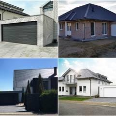 Individuelle Garagen aus Betonfertigteilen:  Garage & Schuppen von Concept Beton GmbH