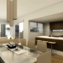 Refurbishment of a Villa in Calvia: mediterranean Dining room by Mallorca Living Quality