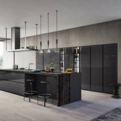 COCINA OMICRON 22 - ATELIER CASA - ARMONY CUCINE: Cocinas de estilo moderno por ATELIER CASA S.A.S