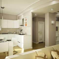 """""""La zona giorno...il centro vitale della casa."""": Soggiorno in stile in stile Moderno di MC Rendering Solution"""