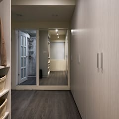 現代風設計個案:  更衣室 by 精洲室內裝潢工程有限公司