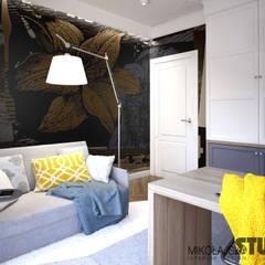 DOM JAK Z BAJKI: styl , w kategorii Domowe biuro i gabinet zaprojektowany przez MIKOŁAJSKAstudio