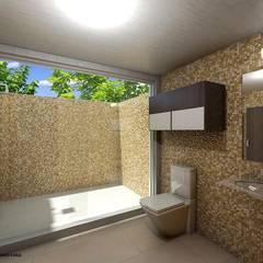 PROYECTOS GRUPO : Baños de estilo  por Grupo Inovarq, Ecléctico