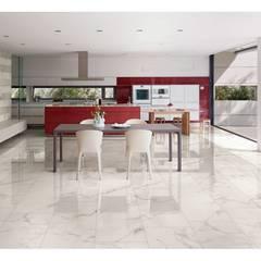 Gres porcellanato effetto marmo calacatta - MAR 5000: Soggiorno in stile  di ItalianGres