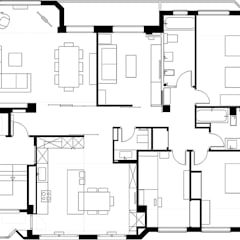 reforma de piso estilo industrial. logroño: Casas de estilo  de Rafael Hernáez Loza AITEC Proyectos