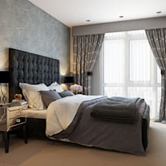 Bedroom:  Dining room by Hampstead Design Hub