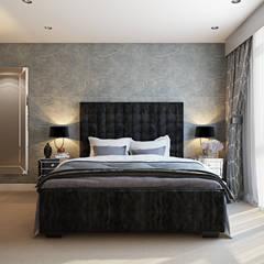 Bedroom:  Bedroom by Hampstead Design Hub