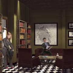 CASA 74: Estudios y despachos de estilo clásico por RCRD Studio