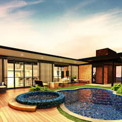 CASA AE: Casas industriais por Beiral Arquitetura e Urbanismo
