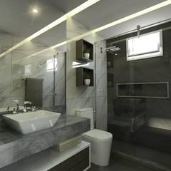 ห้องน้ำ โดย Ayslan Porfirio Arquitetura, ผสมผสาน หินอ่อน