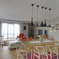 MİMPERA – Salon: iskandinav tarz tarz Oturma Odası