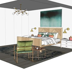 Projecto Suite | Varandas do Mar | Areia Branca: Quartos  por Marta Nobre Arquitectos, Lda
