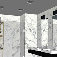 Projeto Casa de Banho Comum | Varandas do Mar | Areia Branca: Casas de banho  por Marta Nobre Arquitectos, Lda