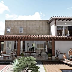 Mediterranean style houses by IAD Arqutiectura Mediterranean
