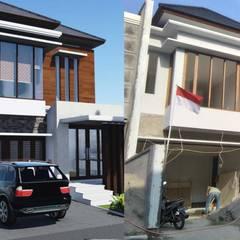 Project Rumah Unit Nuansa Villa Bali Modern di Cinere unit 2:  Rumah by Jasa Arsitek Jakarta