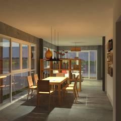 Sukhumvit 50 Residence:  ห้องทานข้าว โดย Aim Ztudio,
