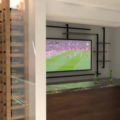 Bar VH39:  Wine cellar by Hall Arquitectos