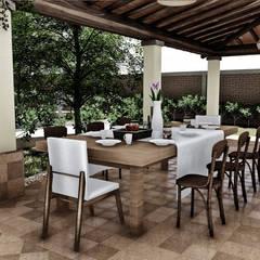 Comedor Exterior: Terrazas de estilo  por IAD Arqutiectura