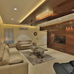 Living room by SPACCE INTERIORS