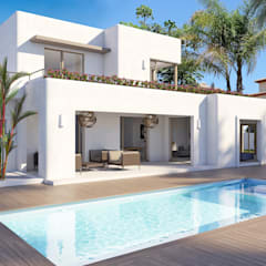 Villa Stella Mediterranean style houses by Villa Fusion Mediterranean