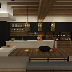 Maison pisé - Ouest lyonnais: Cuisine de style de style eclectique par Agence Maïlys MOUTON