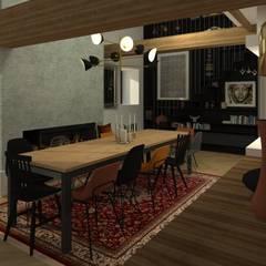 Maison pisé - Ouest lyonnais: Salle à manger de style de style eclectique par Agence Maïlys MOUTON