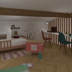 Maison pisé - Ouest lyonnais: Chambre d'enfant de style  par Agence Maïlys MOUTON