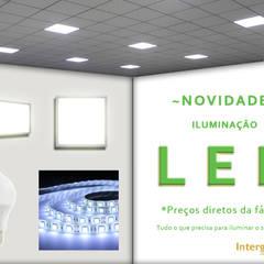 Ilumine o seu espaço.: Paredes  por Intergesso, Lda