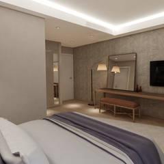 EZGİ AYDOGDU İçmimarlık Danışmanlık ve İnşaat Hiz. – Yalova_Villa_Misafir Odası :  tarz Yatak Odası