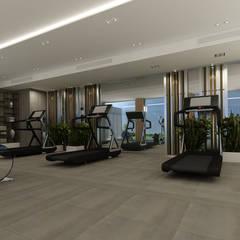 EZGİ AYDOGDU İçmimarlık Danışmanlık ve İnşaat Hiz. – Yalova_Villa_Fitness:  tarz Fitness Odası