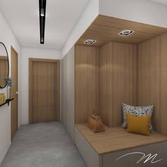 Villa contemporaine - Influence aux accents d'ailleurs.: Couloir et hall d'entrée de style  par Agence Maïlys MOUTON