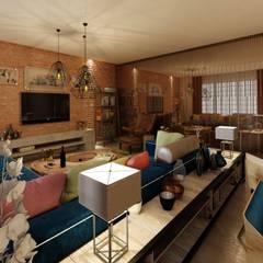 Living room by EZGİ AYDOGDU İçmimarlık Danışmanlık ve İnşaat Hiz.