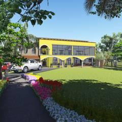 Jardin: Jardines de estilo colonial por DAECO